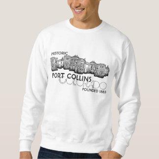 Historic Fort Collins Colorado guys sweatshirt