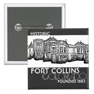 Historic Fort Collins Colorado old town button