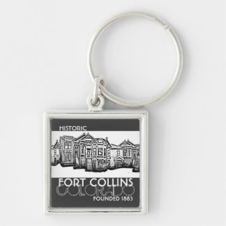 Historic Fort Collins Colorado old town keychain
