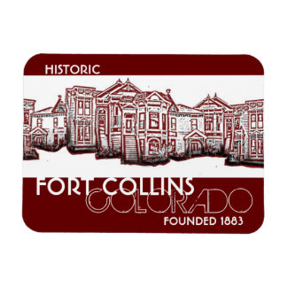 Historic Fort Collins Colorado red old town magnet