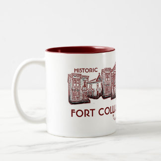 Historic Fort Collins Colorado red old town mug
