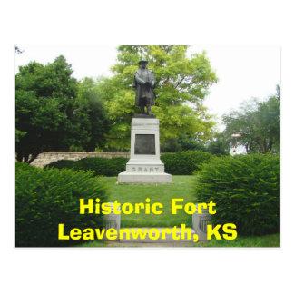 Historic Fort Leavenworth, KS- General Grant Monu Postcard
