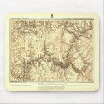 Historic Grand Canyon Map Mouse Pad