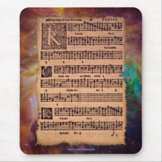 Historic Gregorian Chant Sheet Music Mousemat Mouse Pad