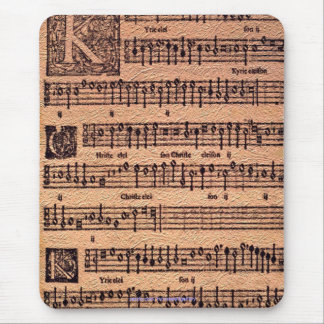 Historic Gregorian Chant Sheet Music Mousemat Mouse Pads