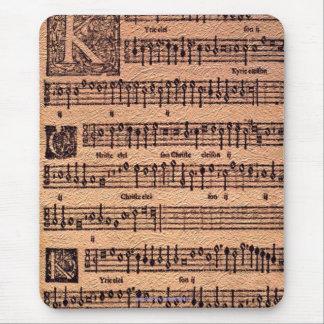 Historic Gregorian Chant Sheet Music Mousemat Mousepads