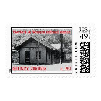 Historic Grundy, Virginia Postage