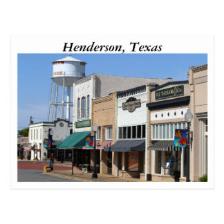 Historic Henderson, Texas Postcard