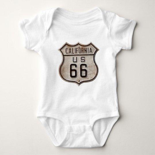 Historic Highway Road Sign Baby Bodysuit