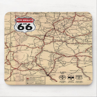 Historic Highway Road Sign Mouse Pads