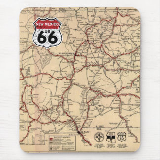 Historic Highway Road Sign Mouse Pad