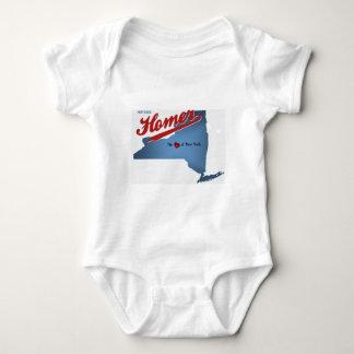 Historic Homer: The Heart of NY Baby Bodysuit