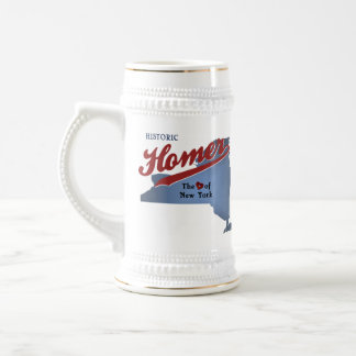 Historic Homer: The Heart of NY Map Beer Stein