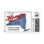 Historic Homer: The Heart of NY State Map Stamps