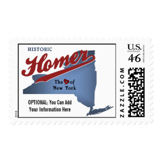 Historic Homer The Heart of NY State Map Stamps