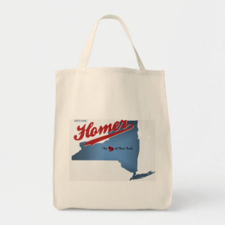 Historic Homer: The Heart of NY State Map Tote Bag