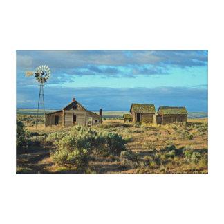 Historic Homestead, Along The Oregon Trail Canvas Print