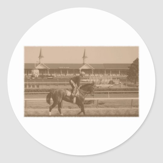 Historic Horse Racing Classic Round Sticker