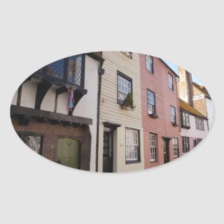 Historic Houses Oval Sticker