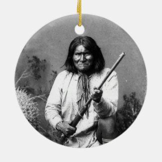Historic Iconic Native American Indian Geronimo Ceramic Ornament