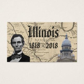 Historic Illinois Bicentennial Business Card