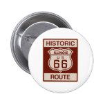 Historic Illinois RT 66 2 Inch Round Button
