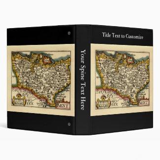 Historic Kent County Map, England 3 Ring Binder
