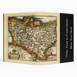 Historic Kent County Map, England Binder