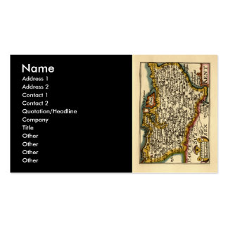 Historic Kent County Map, England Double-Sided Standard Business Cards (Pack Of 100)