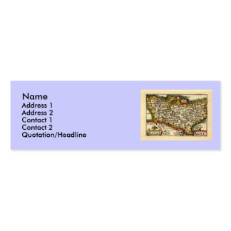 Historic Kent County Map, England Double-Sided Mini Business Cards (Pack Of 20)