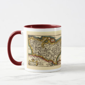 Historic Kent County Map, England Mug