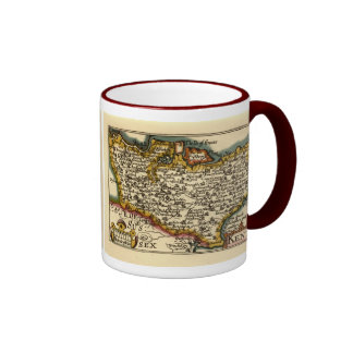 Historic Kent County Map, England Ringer Mug