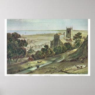 Historic Kent, Hythe, on the edge of Romney Marshe Print