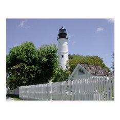 Historic Key West Florida Lighthouse Postcard at Zazzle