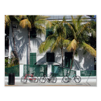 Historic Key West Florida on Canvas poster