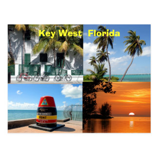 historic key west florida usa postcard