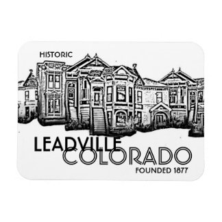 Historic Leadville Colorado old town magnet