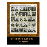 Historic Lincoln Stamps: Art Print Postcard