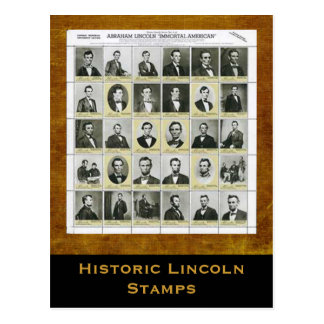 Historic Lincoln Stamps Art Print Postcard