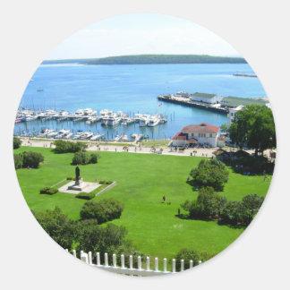 Historic Mackinac Island Classic Round Sticker