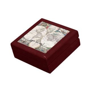 Historic Map - Nova Totius Terrarum Orbis Tabula Trinket Box