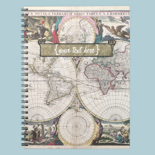 Historic Map - Nova Totius Terrarum Orbis Tabula Notebook