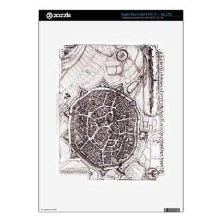 Historic Map Of Nordlingen, Germany In 1651 iPad 3 Decal
