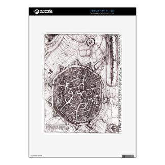 Historic Map Of Nordlingen, Germany In 1651 iPad Skin