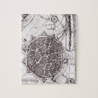 Historic Map Of Nordlingen, Germany In 1651 Jigsaw Puzzle