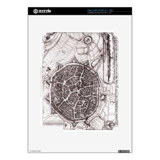 Historic Map Of Nordlingen, Germany In 1651 Skin For The iPad 2