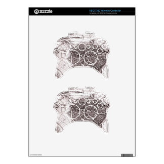 Historic Map Of Nordlingen, Germany In 1651 Xbox 360 Controller Skins