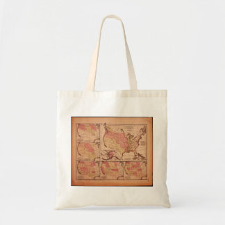 Historic Map of United States Expansion 1787-1865 Canvas Bag