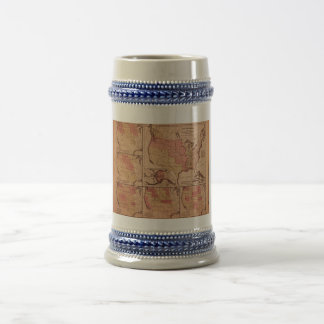 Historic Map of United States Expansion 1787-1865 Beer Stein