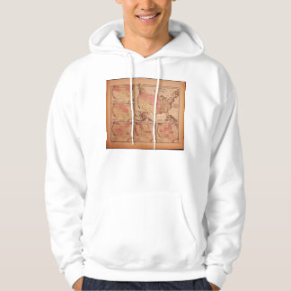Historic Map of United States Expansion 1787-1865 Hooded Pullover